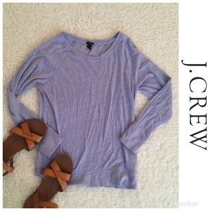 J Crew Soft Long-sleeve Purple Shirt